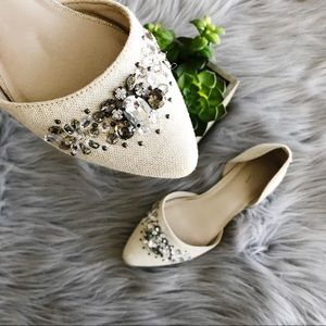Simply Vera || Jeweled D'orsay Flats Size 6